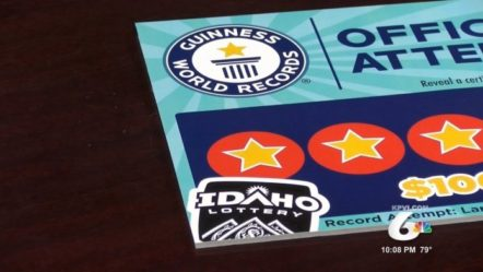 Idaho Lottery Celebrates 30th Anniversary By Breaking Scratch Card Guinness World Record