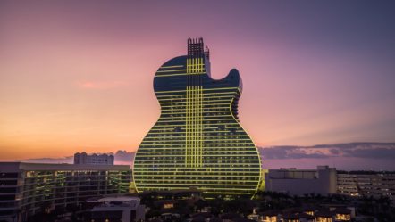 Hard Rock Opens New Guitar-Shaped Hotel