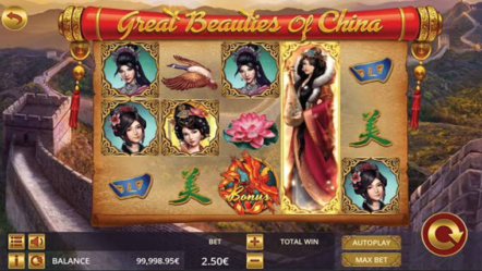 """""""Great Beauties of China"""" produced by Ganapati: Betrnk Slot Features"""