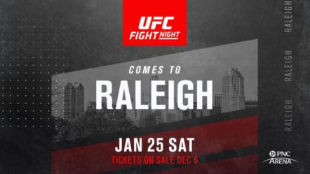 UFC Raleigh: Fighters On The Rise' Fight card