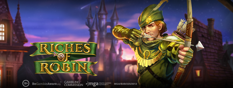 """Play'n GO releases innovative title with their latest adventure video slot """"Riches of Robin"""""""