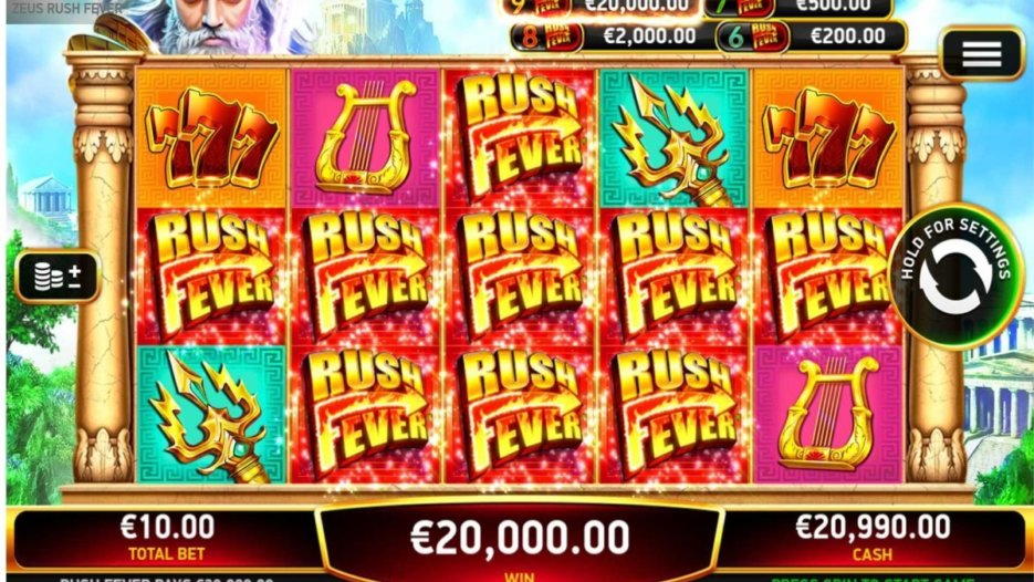 Game Feature: Zeus Rush Fever by RubyPlay®