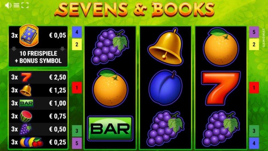 GAMOMAT release new slot game Sevens & Books